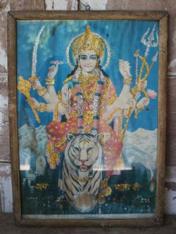 Vintage Print of the Goddess Durga